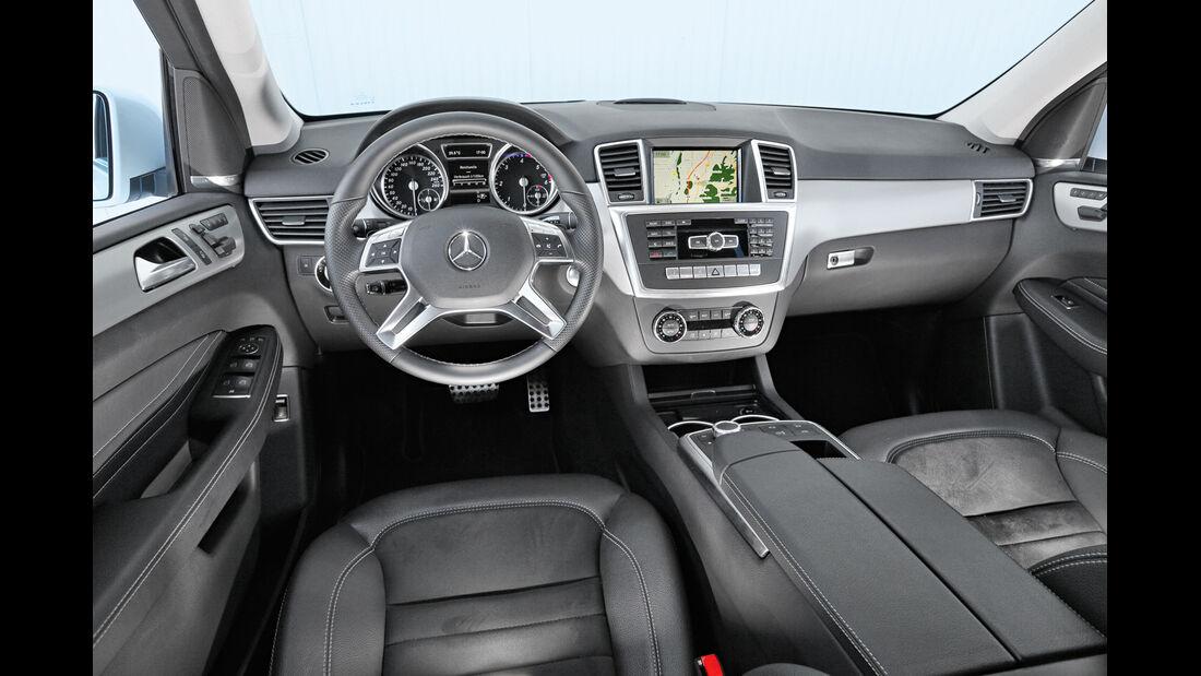 Mercedes ML 350 Bluetec, Cockpit, Lenkrad