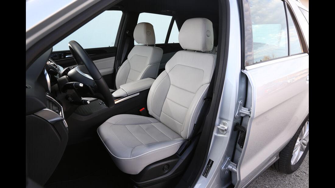 Mercedes ML 350 Bluetec, Fahrersitz