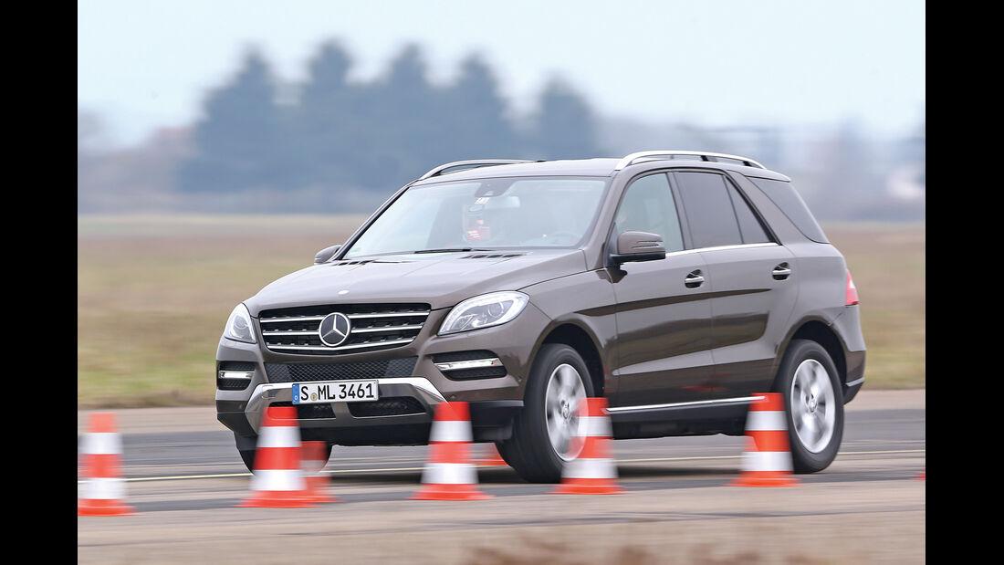 Mercedes ML 500, Frontansicht, Bremsen