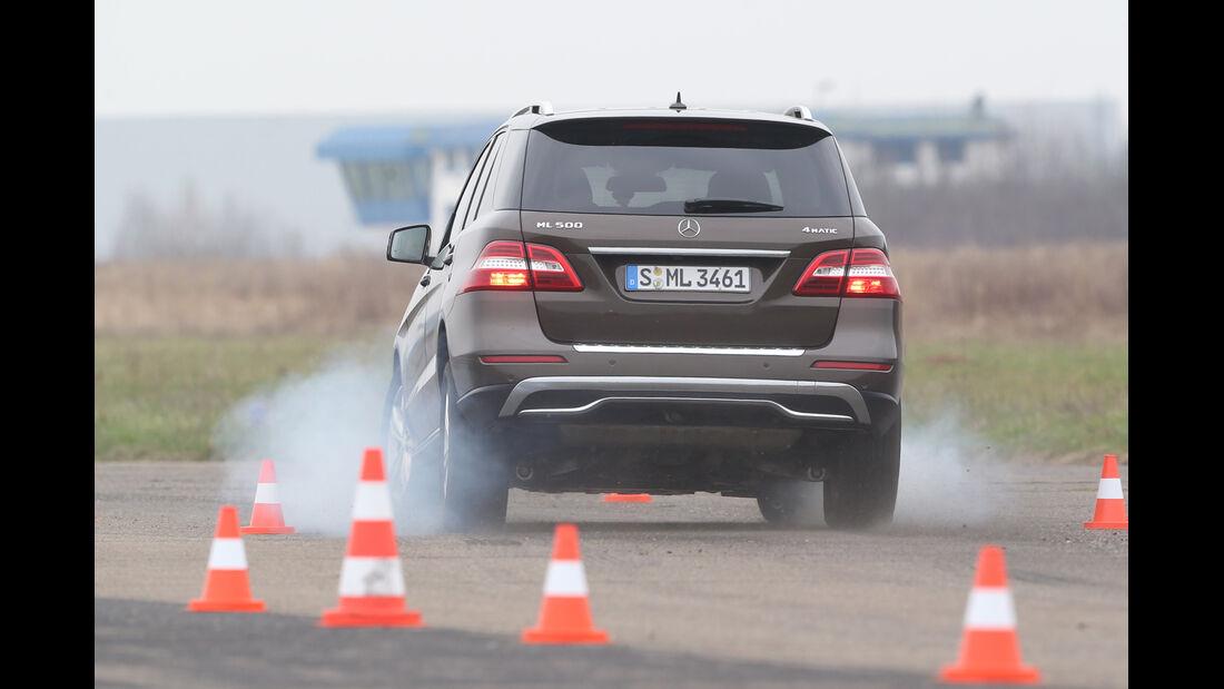Mercedes ML 500, Heckansicht, Bremsen