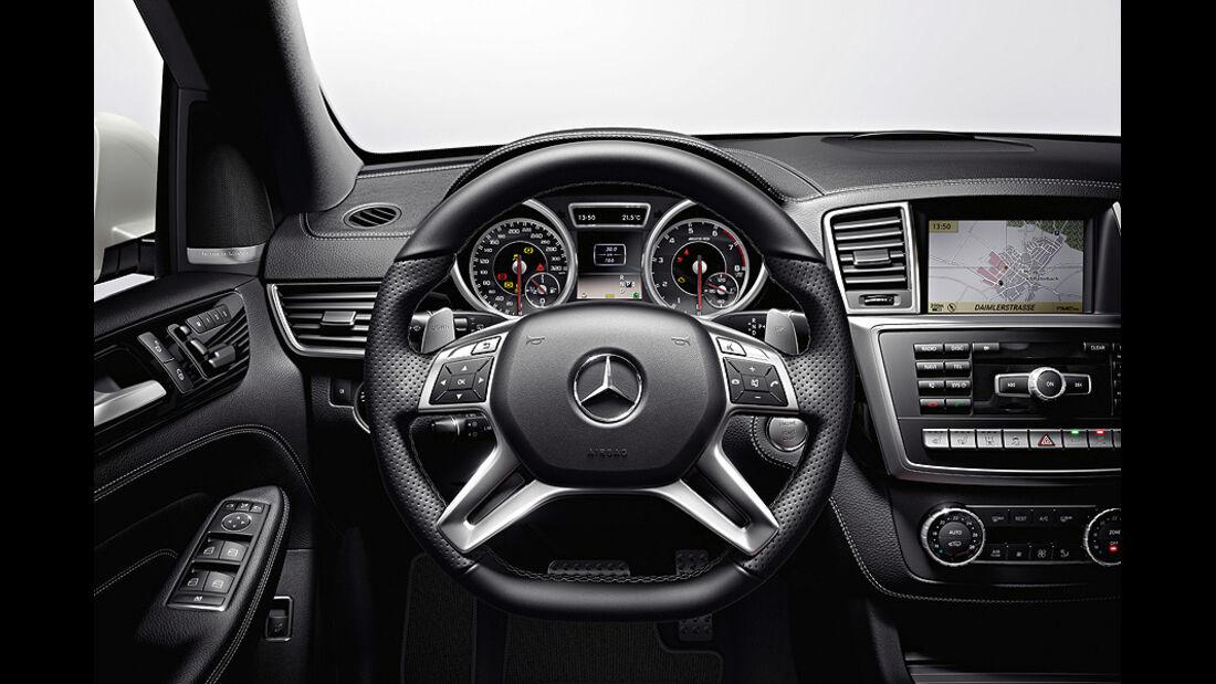 Mercedes ML 63 AMG, Innenraum, Cockpit