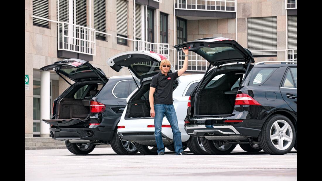 Mercedes ML, Audi Q7, BMW X5
