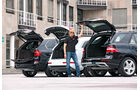 Mercedes ML, Audi Q7, BMW X5