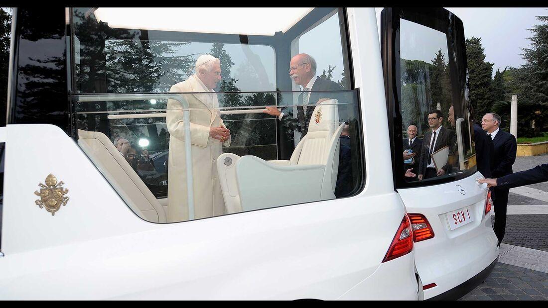 Mercedes ML Papamobil Papst Zetsche
