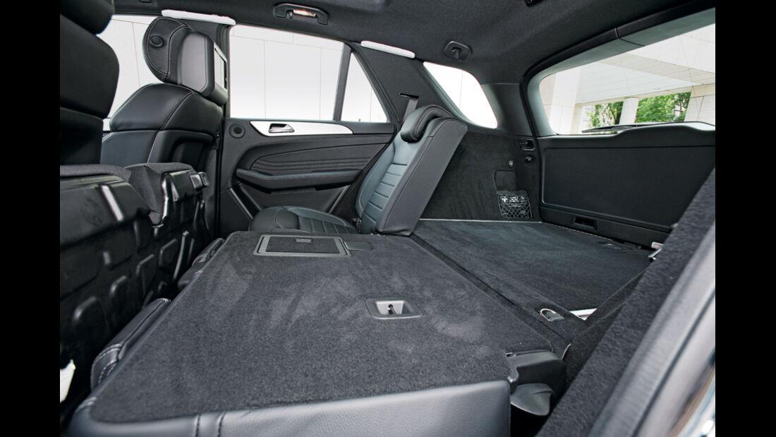 Mercedes ML, Rücksitzfläche