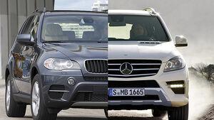 Mercedes ML und BMW X5