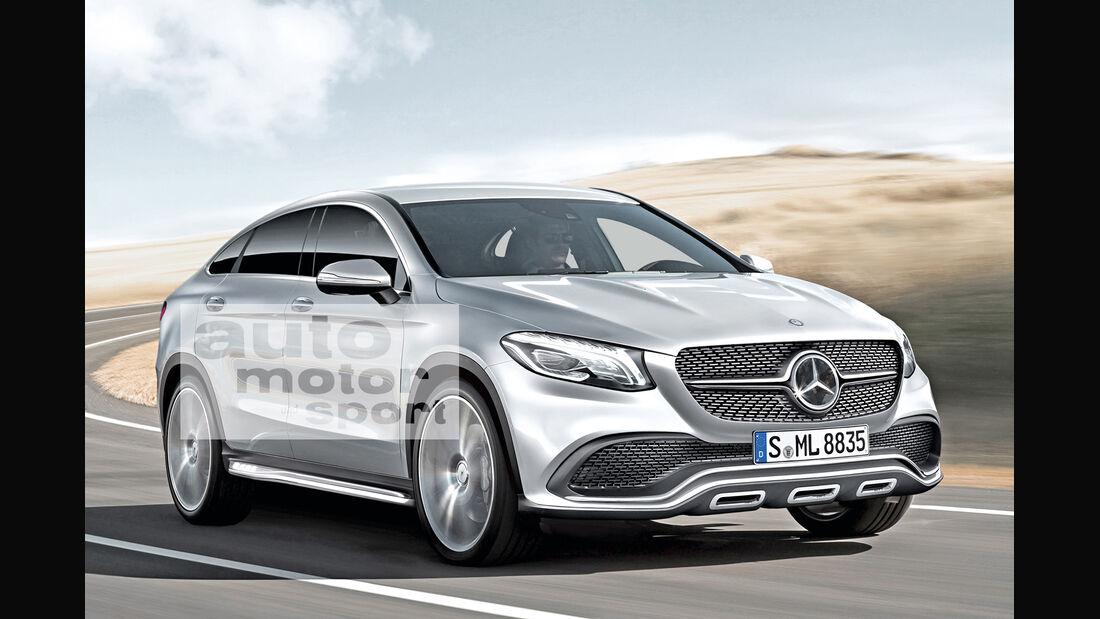 Mercedes MLC, Frontansicht
