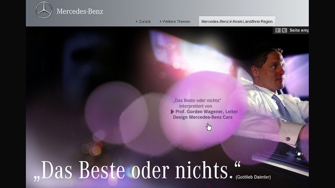 Mercedes Markenclaim Das Beste oder nichts