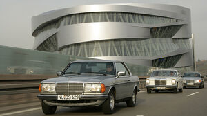 Mercedes-Mittelklasse-Coupés: 250 CE (W 114), 280 CE (C 123), 300 CE (C 124)