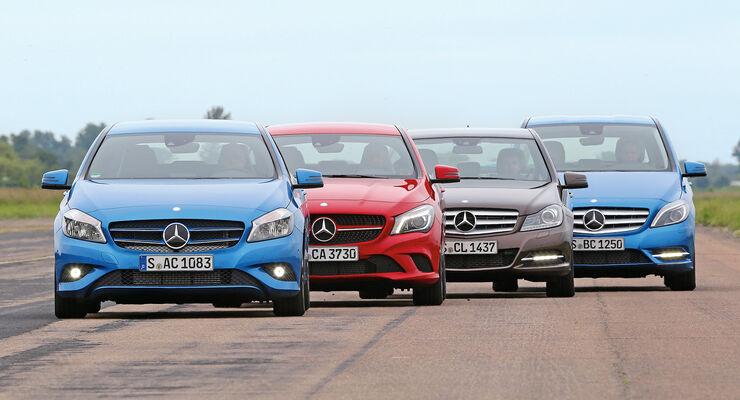 Mercedes-Modelle, Frontansicht