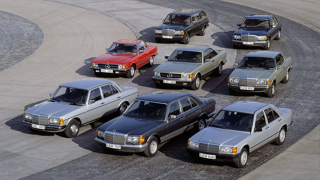Mercedes-Modellpalette 1983