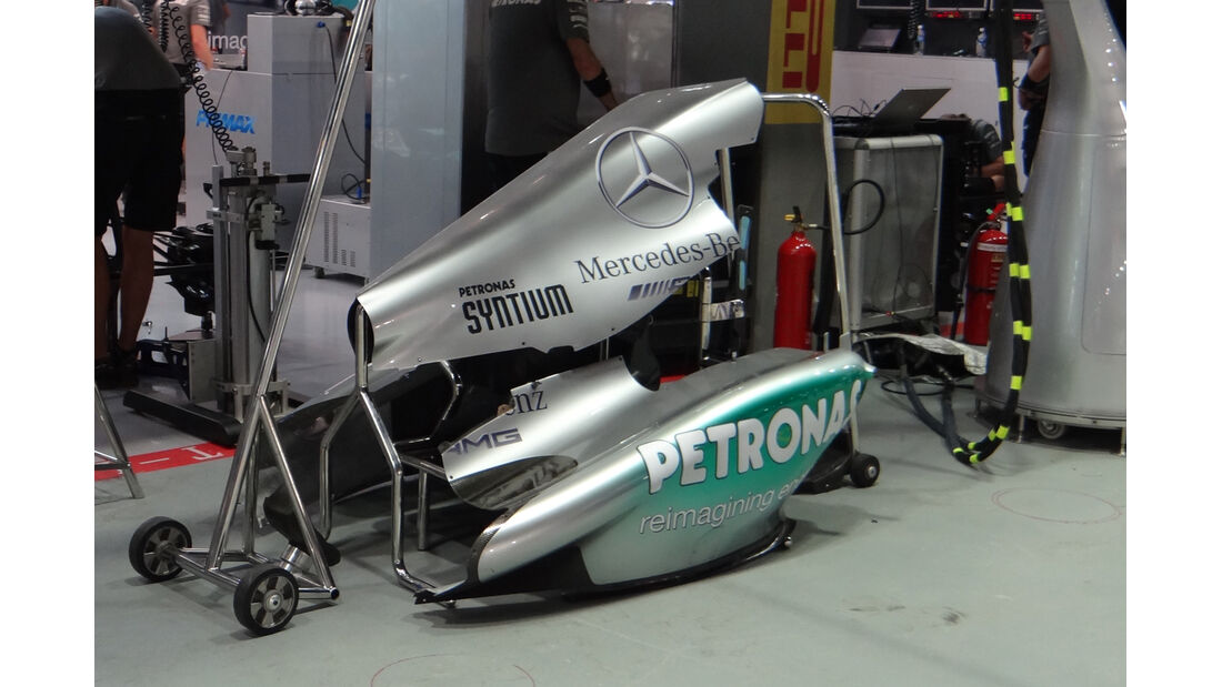Mercedes Motorhaube GP Singapur 2013