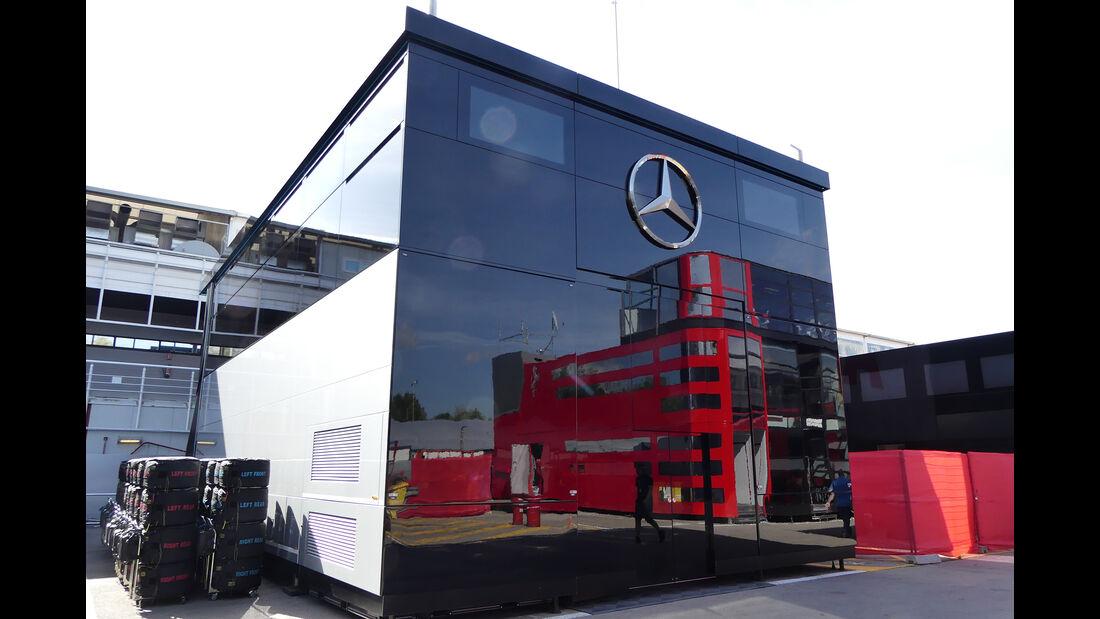 Mercedes - Motorhomes - Formel 1 - GP Spanien 2019