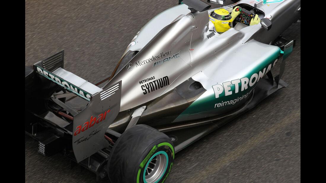 Mercedes Mugello 2012 Formel 1 Technik