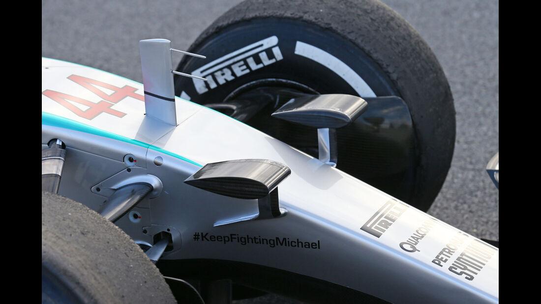 Mercedes - Nasen-Kamera - Barcelona Test 2015