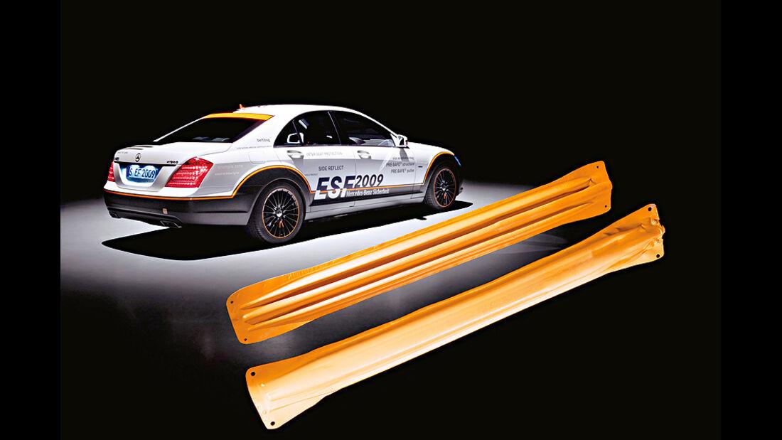 Mercedes Neuheiten, ESF, aufblasbarer Flankenschutz