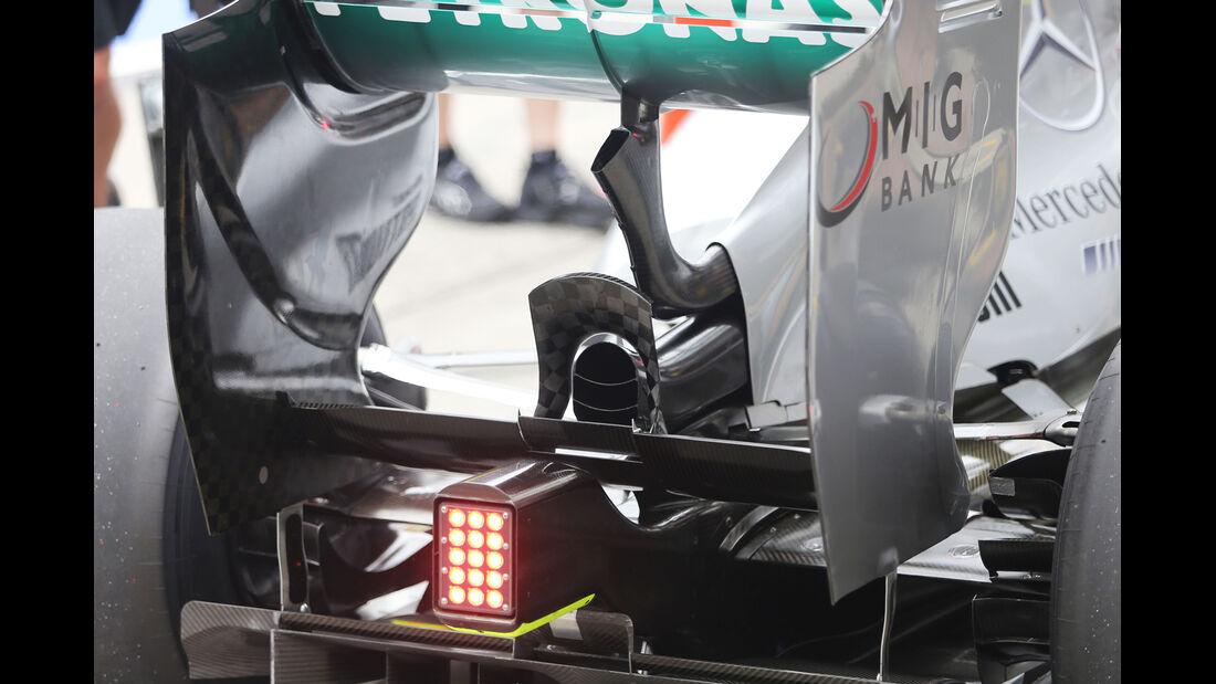 Mercedes Passives DRS - Formel 1 - GP Deuschland - 5. Juli 2013