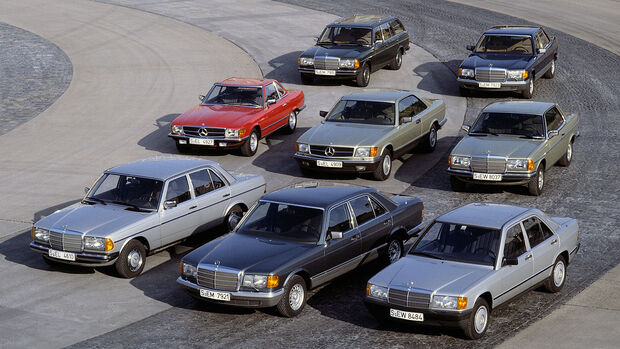 Mercedes Personenwagenprogramm 1983