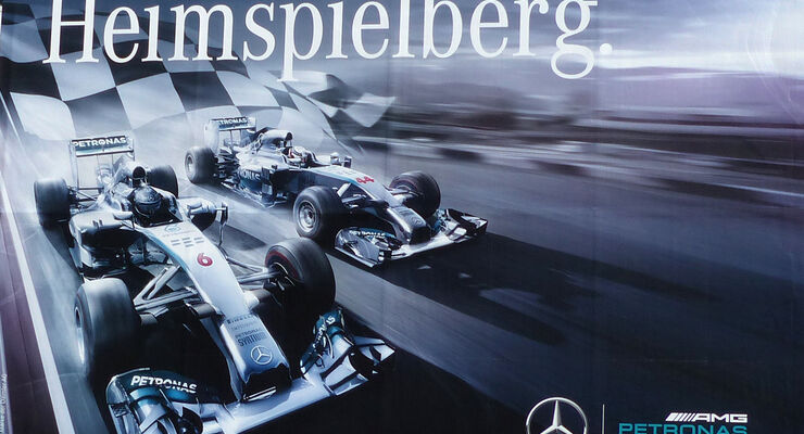 Mercedes-Plakat - GP Österreich 2014