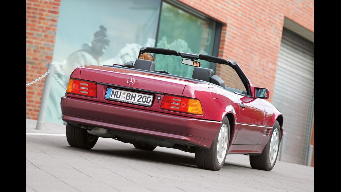 Mercedes R129, Heckansicht