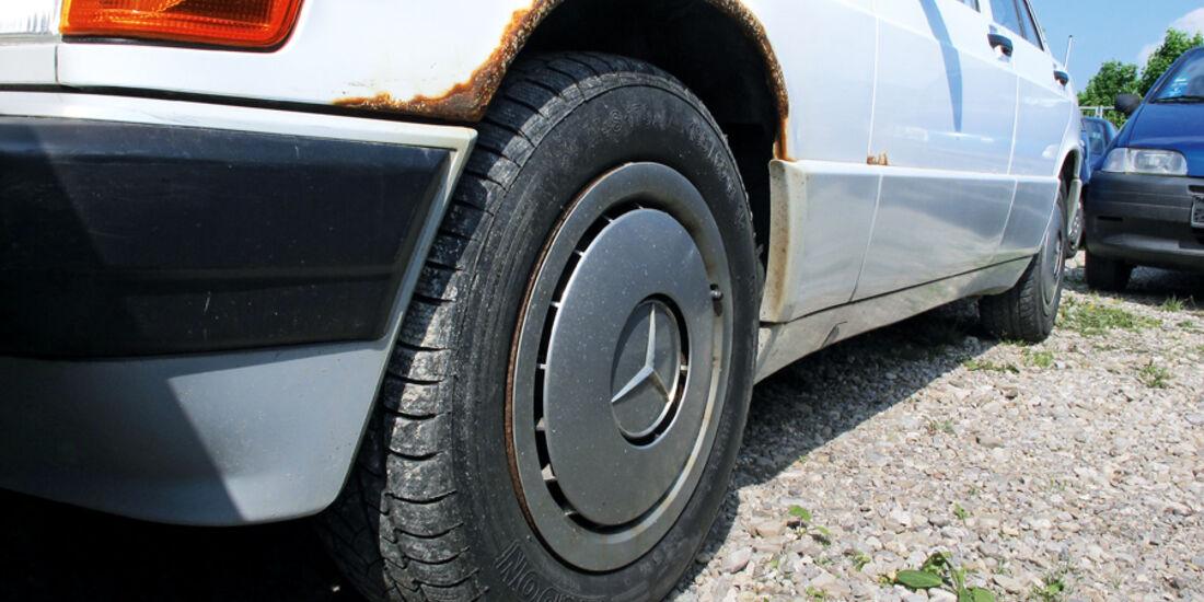 Mercedes, Radkasten, Rost