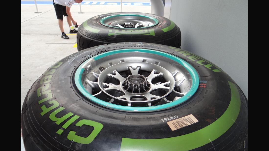 Mercedes-Reifen - GP Malaysia - 22. März 2012