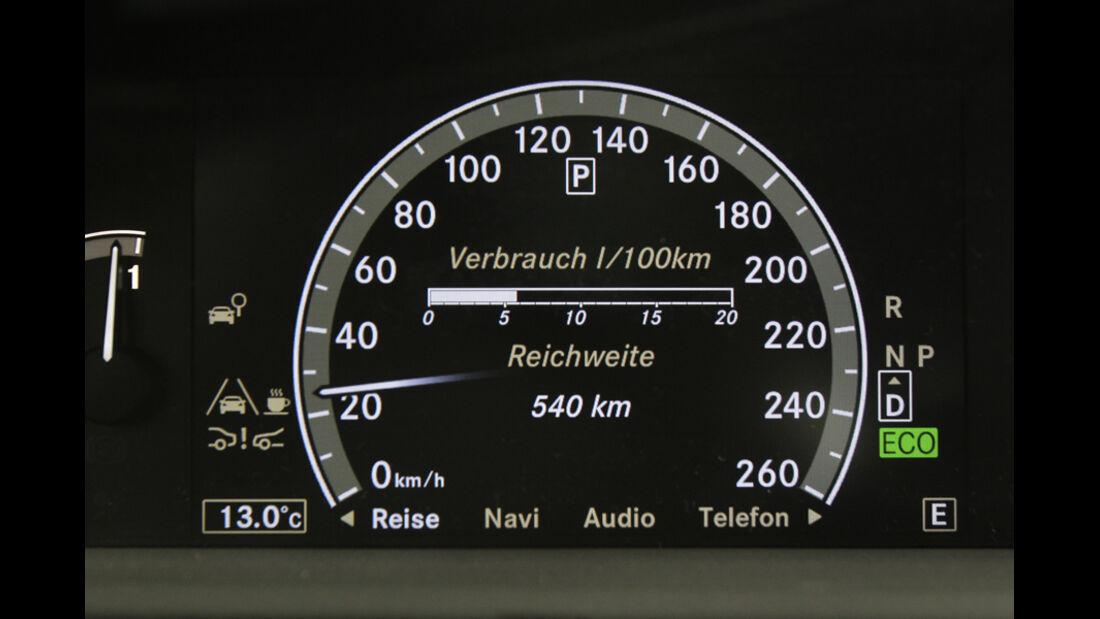 Mercedes S 250 CDI, Tacho