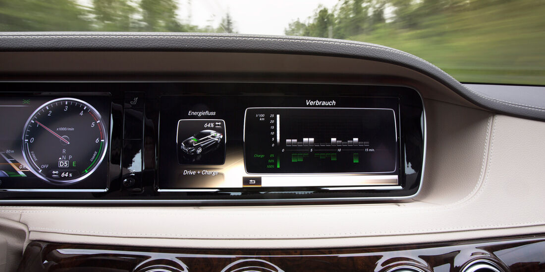 Mercedes S 300 Bluetec Hybrid, Monitor, Bordcomputer