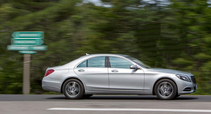 Mercedes S 300 Bluetec Hybrid, Seitenansicht