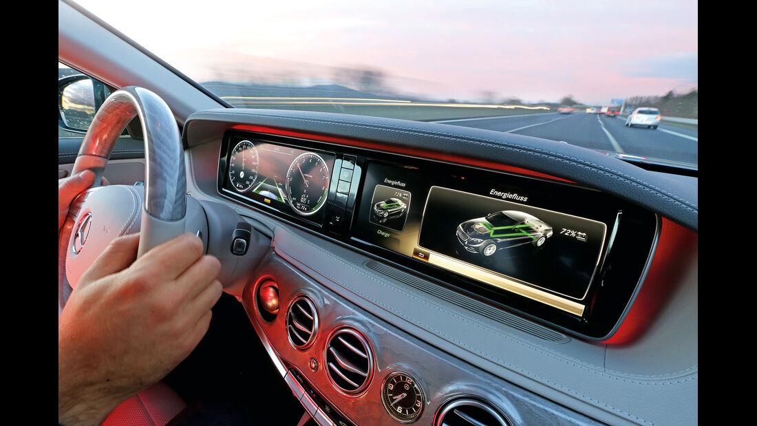 Mercedes S 400 Hybrid, Cockpit, Armaturenbrett, Anzeigeinstrumente