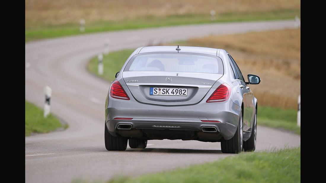 Mercedes S 400 Hybrid, Heckansicht