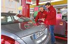 Mercedes S 400 Hybrid, Verbrauch, Tankstelle