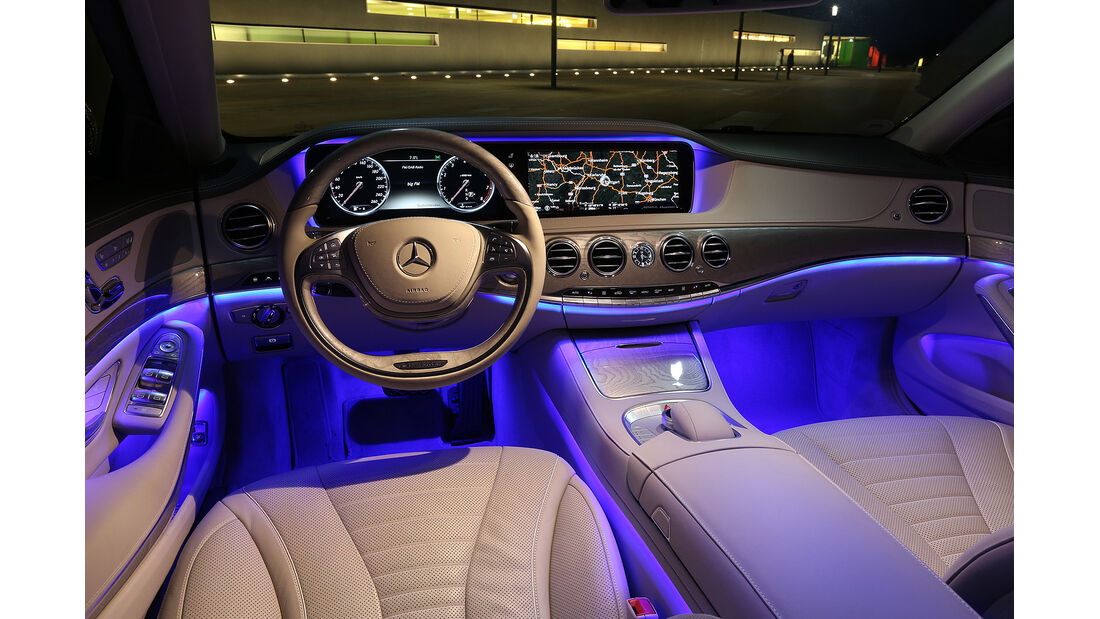 Mercedes S 500 4Matic, Innenraum, Cockpit