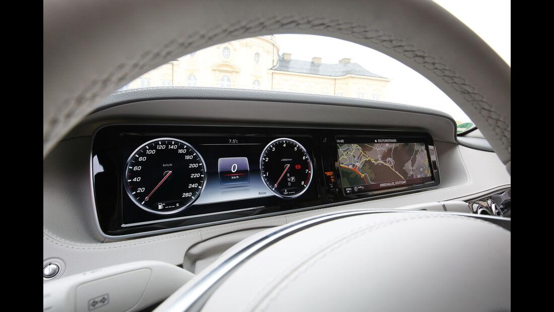 Mercedes S 500 4Matic, Navi, Display