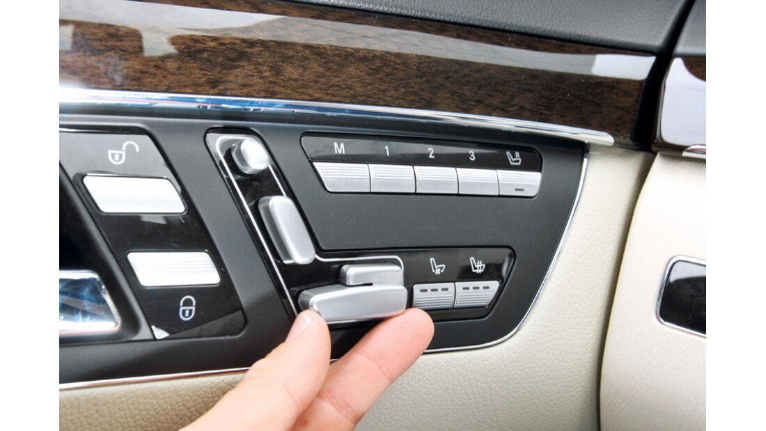 Mercedes S 500, Detail, Eco-Modus, Start-Stopp-Funktion