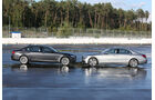 Mercedes S 500 L, BMW 750Li, Seitenansicht