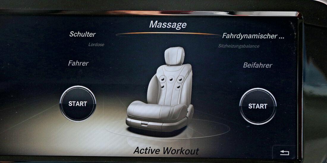 Mercedes S 500 L, Massage-Funktion