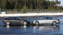 Mercedes S 500 L, Porsche Panamera, Seitenansicht