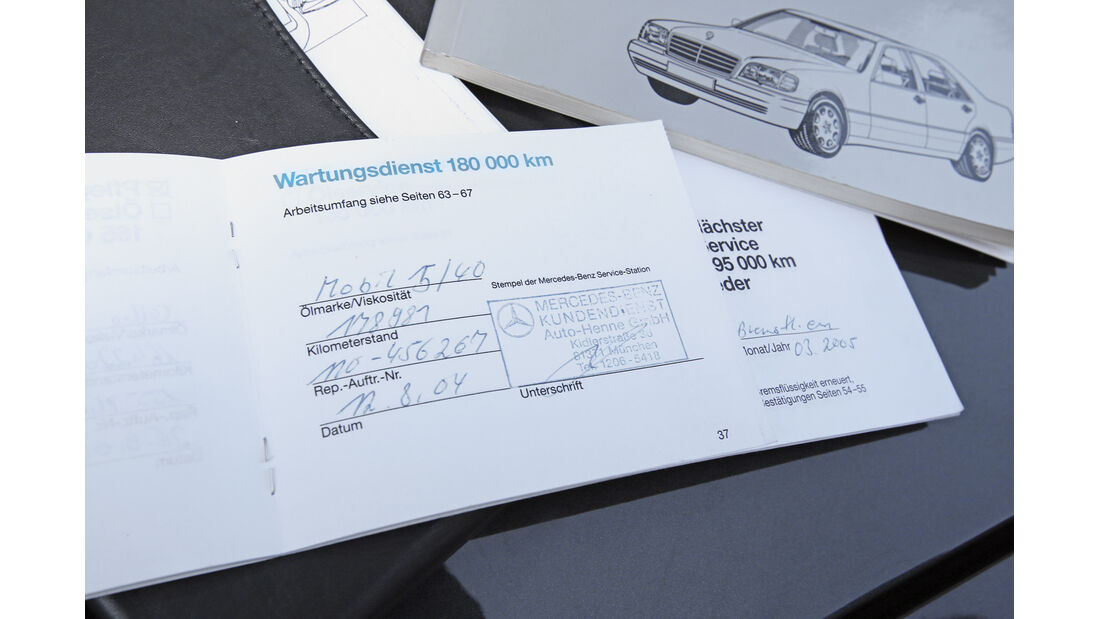 Mercedes S 500, Papiere, Brief
