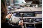 Mercedes S 500 Plug-in-Hybrid lang, Cockpit, Fahrersicht