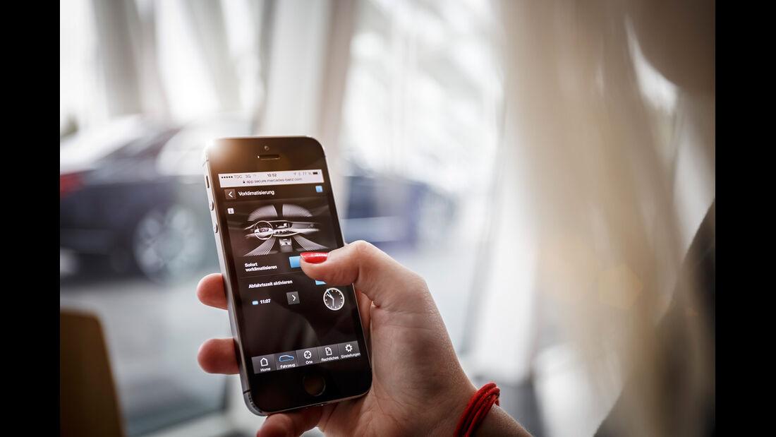 Mercedes S 500 Plug-in-Hybrid lang, Smartphone, Fernbedienung