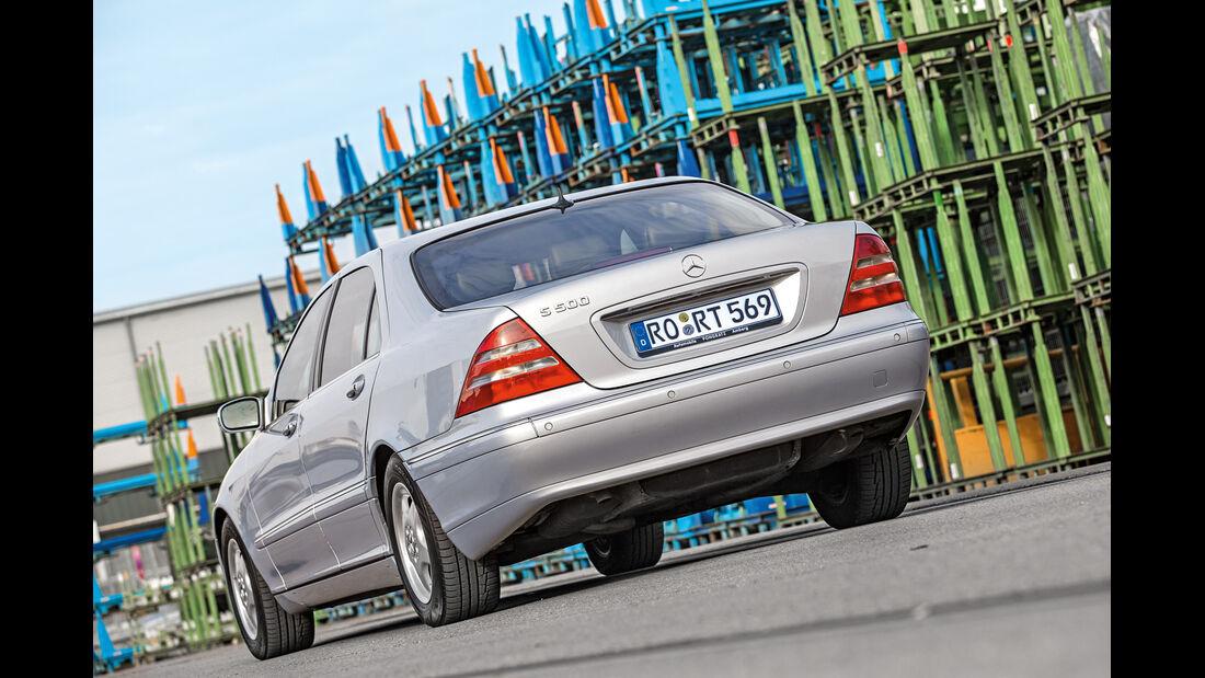 Mercedes S 500 (W220), Heckansicht