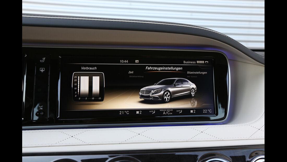 Mercedes S 500 lang, Bordcomputer, Monitor
