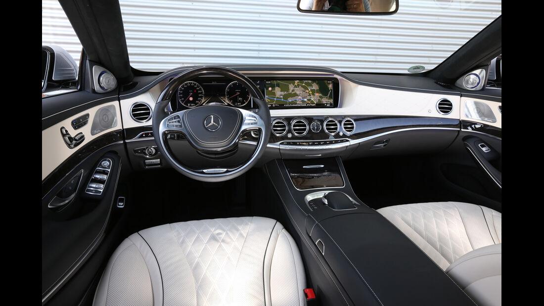 Mercedes S 500 lang, Cockpit, Lenkrad