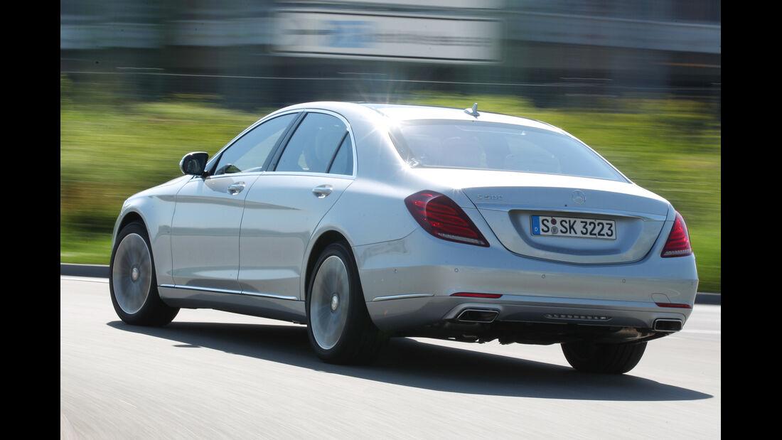 Mercedes S 500 lang, Heckansicht