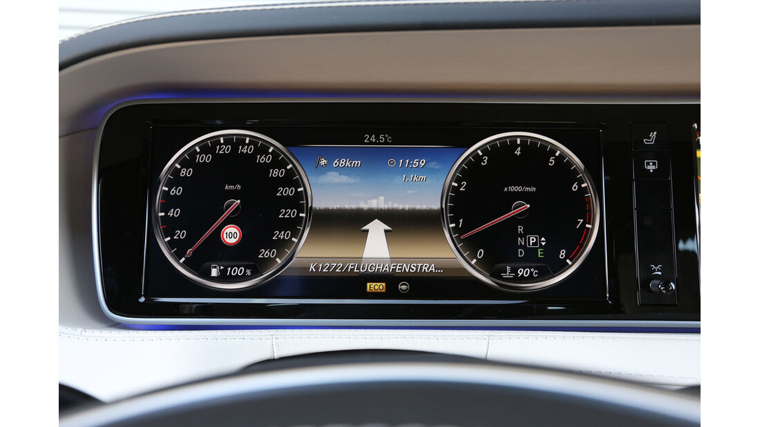 Mercedes S 500 lang, Rundinstrumente