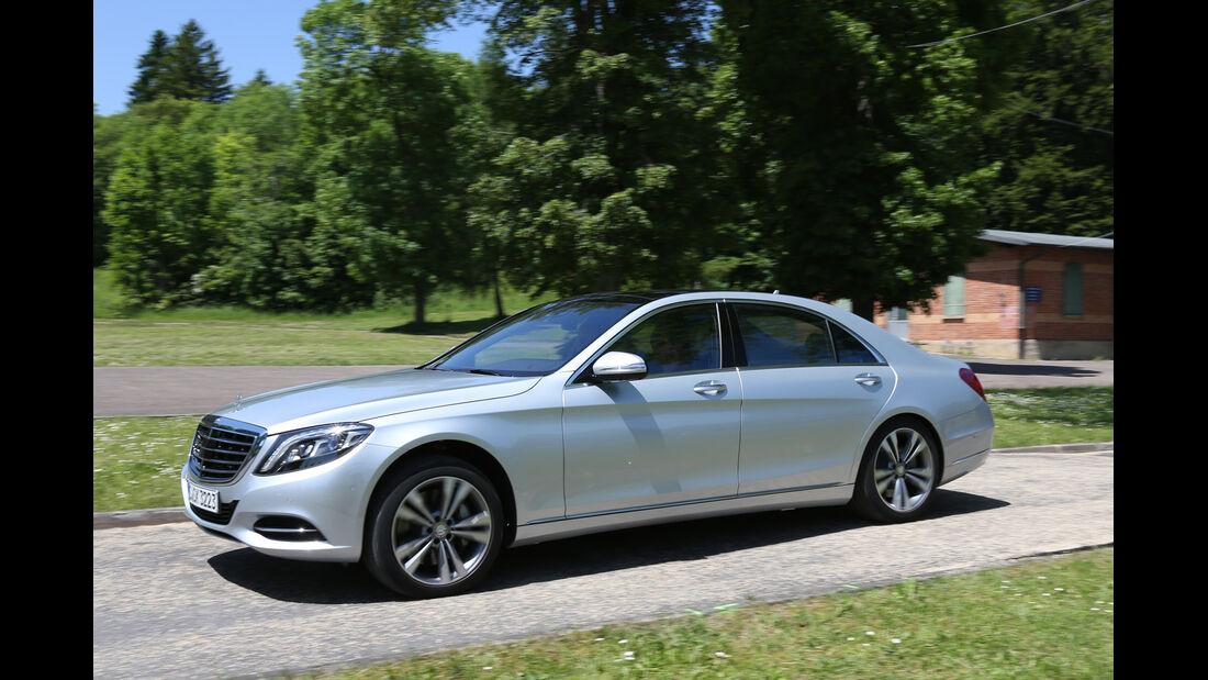 Mercedes S 500 lang, Seitenansicht