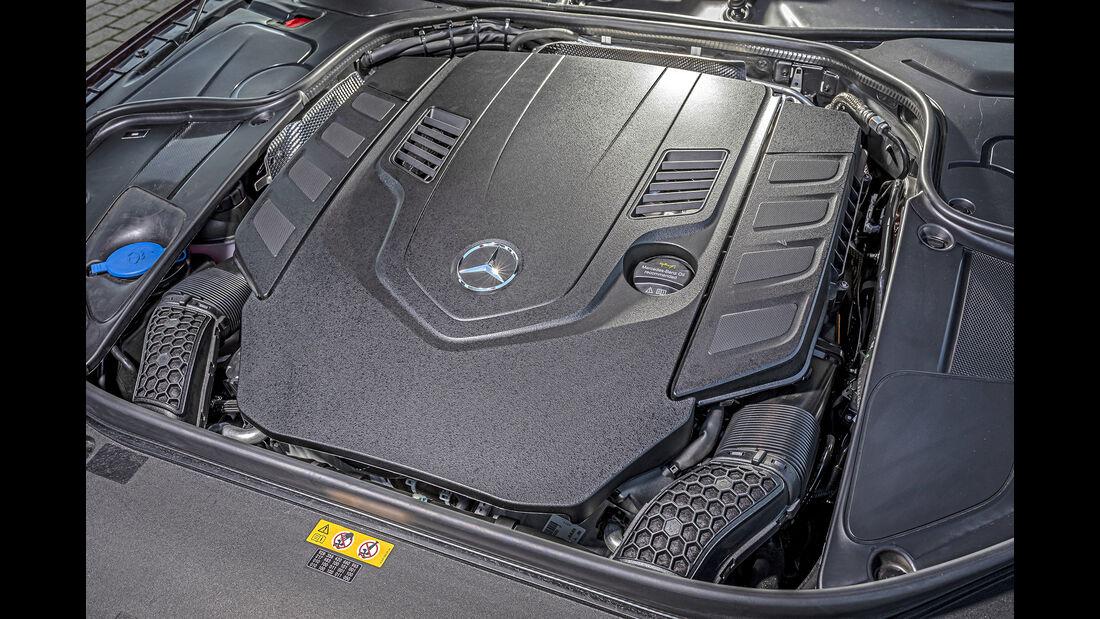 Mercedes S 560 Cabrio, Motorraum