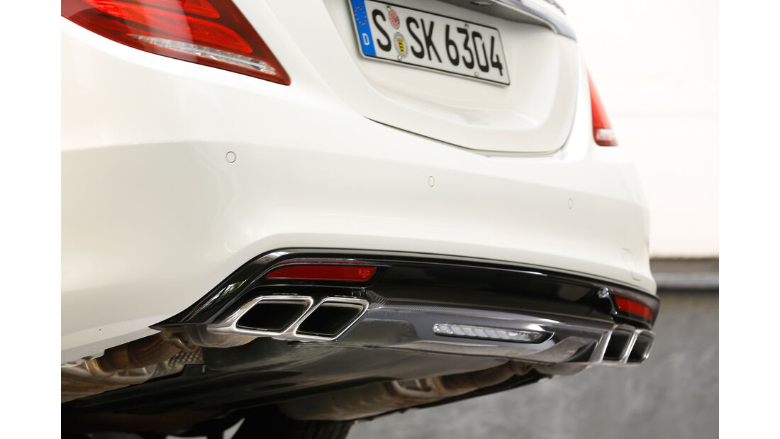 Mercedes S 63 4Matic, Auspuff, Endrohr