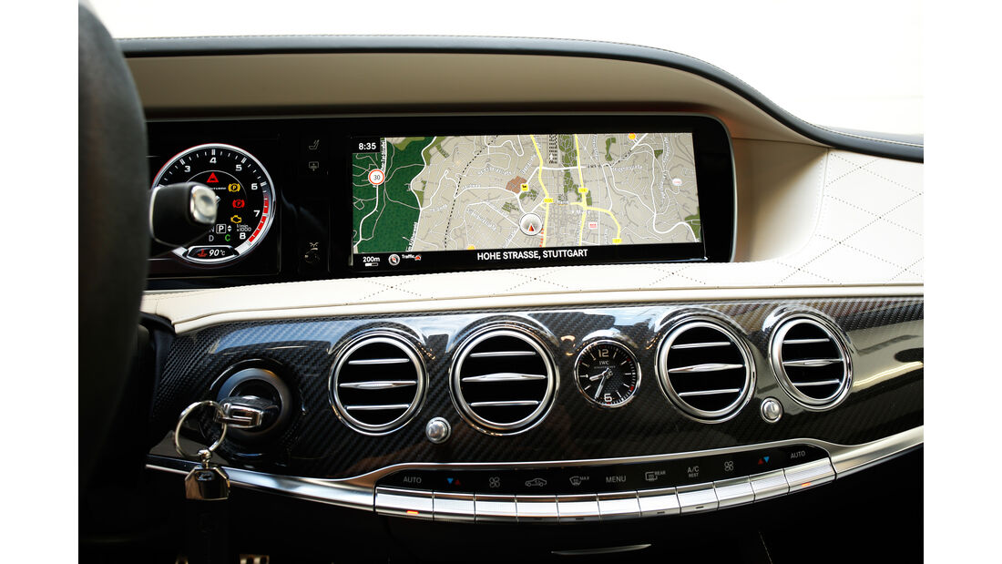 Mercedes S 63 4Matic, Navi, Monitor